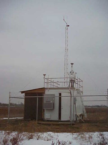 Air monitoring equipment. Snow nearby.