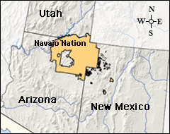 Navajo Reservation Arizona Map.Tribes Navajo Nation Tribes Climate Change