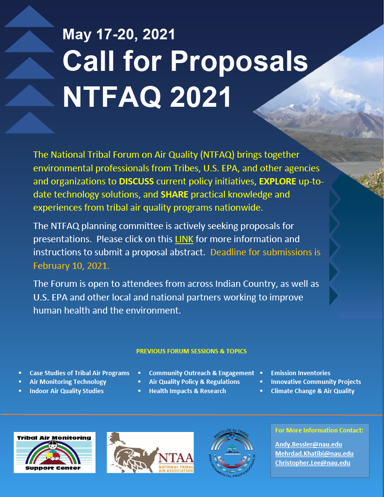 NTFAQ Call for Proposals.
